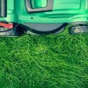 Cutting grass during Spring Cleanup