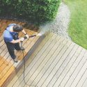 Pressure washing deck for the season